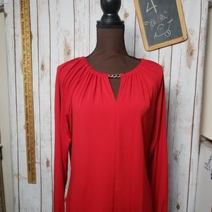 MICHAEL KORS  Long sleeve tunic RED